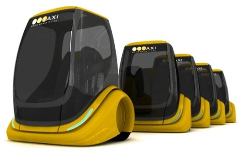 Automated taxis, as envisioned by designer Petr Kubik