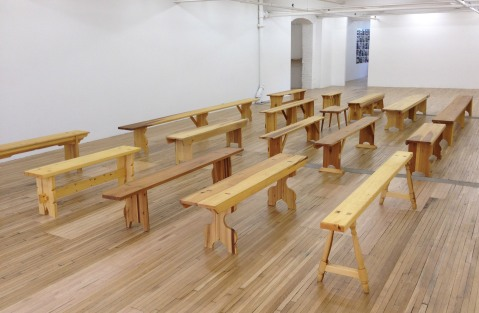 Francis Cape's Utopian Benches at Murray Guy Gallery, NYC, 2013