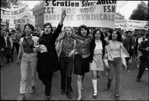 CGT-organized demonstration, Place de la République, Paris, France, May 29, 1968. © Fondation Gilles Caron/Contact Press Images.